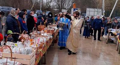Освящение пасхальных куличей и всякой снеди